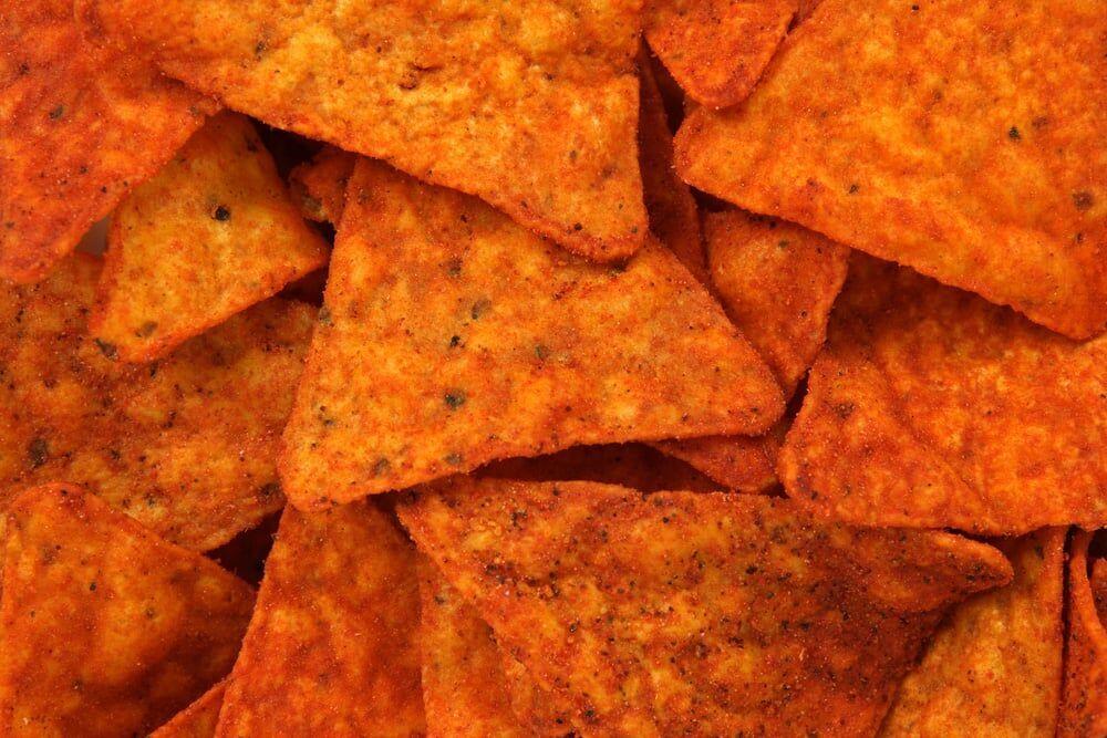 textura de Doritos, por Shutterstock