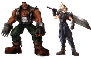Barret Wallace e Cloud Strife, de Final Fantasy VII